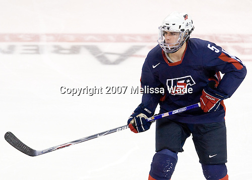 Ryan Grimshaw (US Under-18 5) - The Boston University Terriers defeated the US National Team Development Program Under-18s 3-2 on Saturday, December 8, 2007, at Agganis Arena in Boston, Massachusetts.