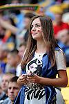 13.06.2012 LWOW - STADION ARENA LWOW ( LVIV UKRAINE STADIUM ARENA LVIV ) PILKA NOZNA ( FOOTBALL ) MISTRZOSTWA EUROPY W PILCE NOZNEJ UEFA EURO 2012 ( EUROPEAN CHAMPIONSHIPS UEFA EURO 2012 ) GRUPA B ( POOL B ) MECZ DANIA - PORTUGALIA ( GAME DENMARK - PORTUGAL ).NZ KOBIETA KIBIC DANIA .FOTO MICHAL STANCZYK / CYFRASPORT/NEWSPIX.PL.---.Newspix.pl