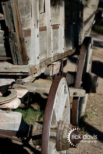 Rustic old western wagon.