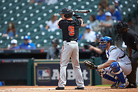 Trey Ochoa (9) of the Sam Houston State Bearkats at bat against the Kentucky Wildcats during game four of the 2018 Shriners Hospitals for Children College Classic at Minute Maid Park on March 3, 2018 in Houston, Texas. The Wildcats defeated the Bearkats 7-2.  (Brian Westerholt/Four Seam Images)