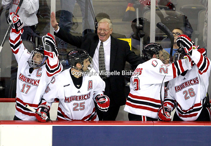 Nebraska-Omaha defeated Colorado College 7-5 Friday night at CenturyLink Center in Omaha. (Photo by Michelle Bishop) .