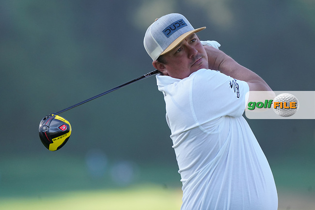Jason Dufner (USA) In action during the 1st round of The Genesis Invitational, Riviera Country Club, Pacific Palisades, Los Angeles, USA. 12/02/2020<br /> Picture: Golffile | Phil Inglis<br /> <br /> <br /> All photo usage must carry mandatory copyright credit (© Golffile | Phil Inglis)