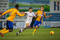 Luke O'Nien of Wycombe Wanderers in action during the The Checkatrade Trophy  Quarter Final match between Mansfield Town and Wycombe Wanderers at the One Call Stadium, Mansfield, England on 24 January 2017. Photo by Andy Rowland.