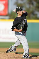 August 9 2009: Clayton Tanner of the San Jose Giants during game against the Rancho Cucamonga Quakes at The Epicenter in Rancho Cucamonga,CA.  Photo by Larry Goren/Four Seam Images