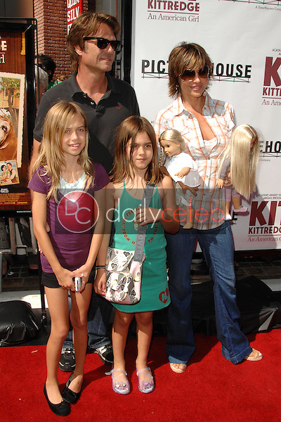 Harry Hamlin and Lisa Rinna with their daughters<br />