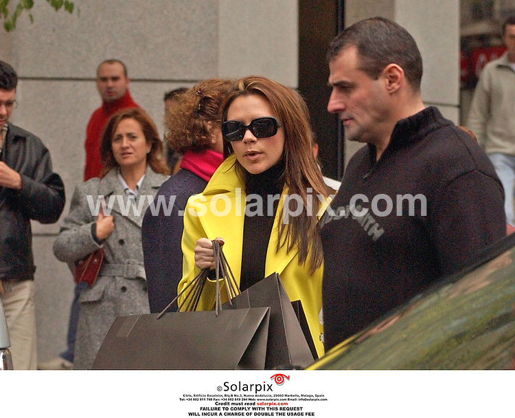 ALL ROUND PICTURES BY SOLARPIX.COM.**MUST CREDIT SOLARPIX.COM ORT DOUBLE FEE WILL BE CHARGED**.**NOT FOR SYNDICATION IN SPAIN**.Pictures show Victoria Beckhams ex bodyguard  Merrick McDonald 42 yrs old who died recently by a car bomb in Iraq  shown here with the beckham family in Madrid...DATE:20_10_06-JOB REF:2952-RAP