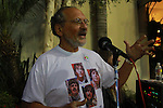 "JERRY RUBIN. The host introduces disc jockey Chris Carter at the George Harrison Public Birthday Celebration by the Alliance for Survival, hosted by Jerry Rubin and ""Breakfast with the Beatles"" radio host Chris Carter at George Harrison's star on the Walk of Fame. Hollywood, CA, USA. February 25, 2010."