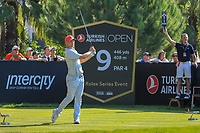 Alex Noren (SWE) during the third round of the Turkish Airlines Open, Montgomerie Maxx Royal Golf Club, Belek, Turkey. 09/11/2019<br /> Picture: Golffile | Phil INGLIS<br /> <br /> <br /> All photo usage must carry mandatory copyright credit (© Golffile | Phil INGLIS)