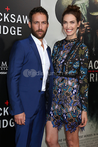 BEVERLY HILLS, CA - OCTOBER 24: Ori Pfeffer, Yael Goldman at the screening of Summit Entertainment's 'Hacksaw Ridge' at Samuel Goldwyn Theater on October 24, 2016 in Beverly Hills, California. Credit: David Edwards/MediaPunch
