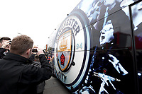 Fans gather to cheer the Manchester City team bus as it arrives at Anfield ahead of kick-off<br /> <br /> Photographer Rich Linley/CameraSport<br /> <br /> The Premier League - Liverpool v Manchester City - Sunday 7th October 2018 - Anfield - Liverpool<br /> <br /> World Copyright &copy; 2018 CameraSport. All rights reserved. 43 Linden Ave. Countesthorpe. Leicester. England. LE8 5PG - Tel: +44 (0) 116 277 4147 - admin@camerasport.com - www.camerasport.com