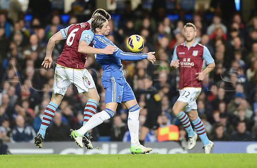 23.12.2012 London, England. Fernando Torres of Chelsea in action during the Premier League game between Chelsea and Aston Villa at Stamford Bridge. Chelsea ran away with the game with a score of 8-0.