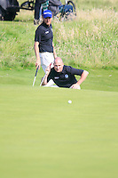 Matt Clarke (SCO) and Barry Hume (SCO) during the Home Internationals day 2 foursomes matches supported by Fairstone Financial Management Ltd. at Royal Portrush Golf Club, Portrush, Co.Antrim, Ireland.  13/08/2015.<br /> Picture: Golffile   Fran Caffrey<br /> <br /> <br /> All photo usage must carry mandatory copyright credit (© Golffile   Fran Caffrey)