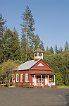 Historic one-room Pine Grove School House, Amador County, Calif.