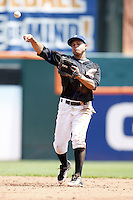 May 23, 2009:  Second Baseman Argenis Reyes of the Buffalo Bisons, International League Triple-A affiliate of the New York Mets, during a game at Coca-Cola Field in Buffalo, NY.  Photo by:  Mike Janes/Four Seam Images