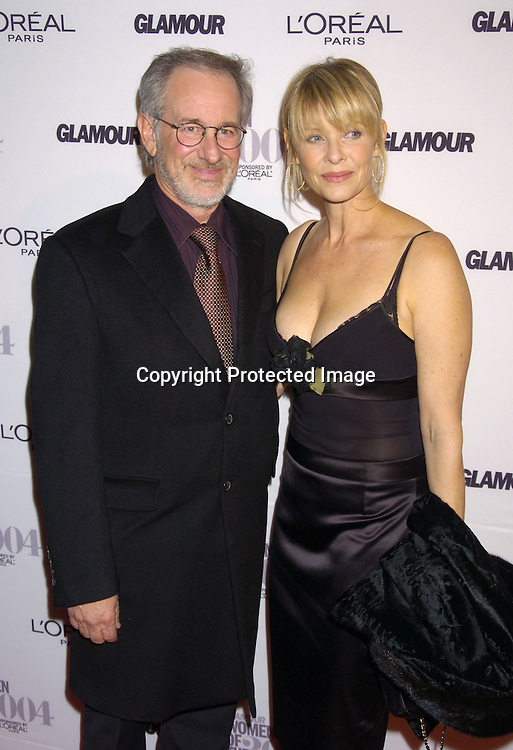 Steven Spielberg and wife Kate Capshaw ..at The 15th Annual Glamour Magazine Women of the Year Awards on November 8, 2004 at The American Museum  of Natural History in New York City. ..Photo by Robin Platzer, Twin Images