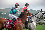 SHA TIN, HONG KONG – APRIL 28: Beat The Clock, ridden by Joao Moreira wins The Group 1 Chairman's Sprint Prize on FWD Champions Day at Sha Tin Racecourse in Hong Kong. Michael McInally/Eclipse Sportswire/CSM
