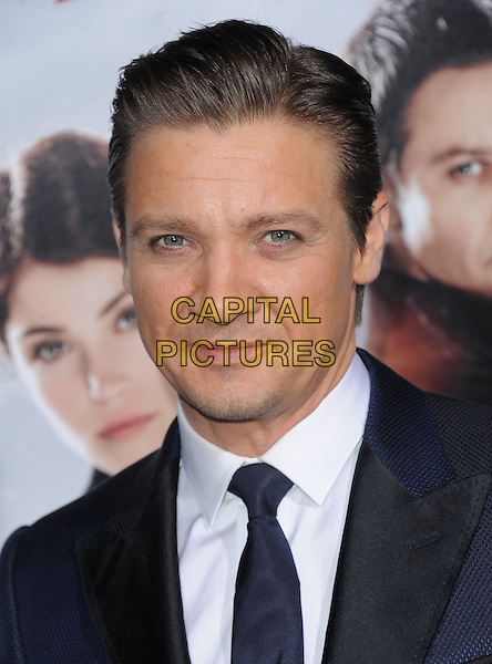 Jeremy Renner.attending the Paramount Los Angeles film premiere of 'Hansel and Gretel: Witch Hunters', held at The Grauman's Chinese Theater in Hollywood, California, USA, January 24th 2013..portrait headshot  navy blue suit tie white shirt                                        .CAP/DVS.©Debbie VanStory/Capital Pictures.