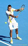 Jo Wilfried TSONGA (FRA) wins at Australian Open in Melbourne Australia on 21st January 2013
