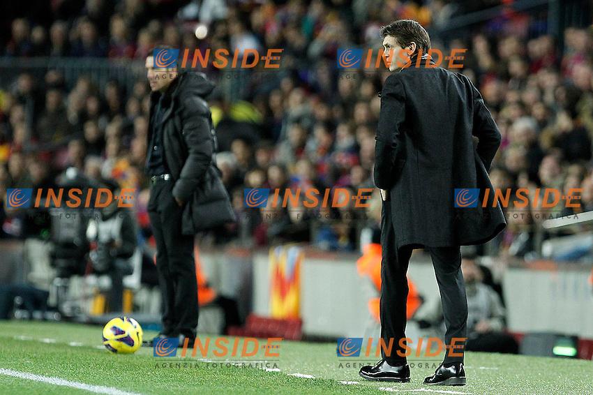 FC Barcelona's coach Tito Vilanova (r) and Atletico de Madrid's coach Diego Pablo Cholo Simeone during La Liga match.December 16,2012. (ALTERPHOTOS/Acero) .Football Calcio 2012/2013.La Liga Spagna.Foto Alterphotos / Insidefoto .ITALY ONLY