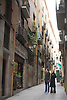 A narrow neighborhood street common in Barcelona, Spain. Photo by Kevin J. Miyazaki/Redux