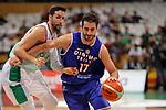 Basketball Champions League 2017/18 - Previus.<br /> Divina Seguros Joventut vs Dinamo Tbilisi: 86-66.<br /> Sergi Vidal vs Mikhail Berishvili.