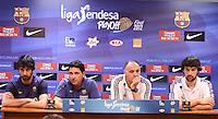 5.06.2012 Barcelona. Rueda de prensa de presentacion playoff final liga ACB.
