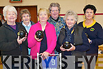 Putting their bowls skills to the test at the Sean Chairde bowls open day in Kenmare last week.  .Front L-R Eileen McGuillicuddy, Madge Gill and Hazel Endean. .Back L-R Chris O'Connor, Eileen Cronin and Eileen O'Sullivan.