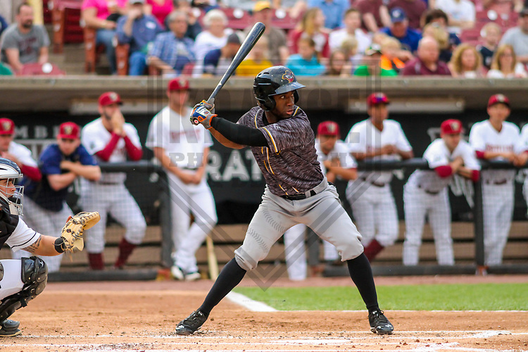 Quad Cities River Bandits second baseman Marcos Almonte (1) during a Midwest League game against the Wisconsin Timber Rattlers on June 8, 2017 at Fox Cities Stadium in Appleton, Wisconsin.  Wisconsin defeated Quad Cities 8-3. (Brad Krause/Krause Sports Photography)