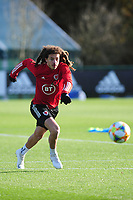 Pictured: Ethan Ampadu of Wales during the Wales Training Session at The Vale Resort in Cardiff, Wales, UK. Monday 11 November 2019