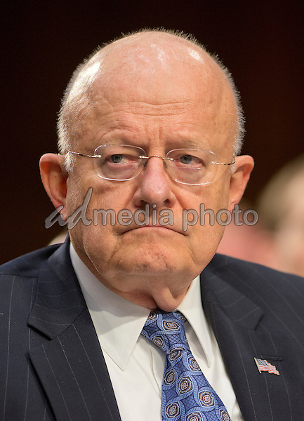 Director James Clapper, Director of National Intelligence (DNI) testifies during an open hearing held by the US Senate Select Committee on Intelligence to examine worldwide threats on Capitol Hill in Washington, DC on Tuesday, February 9, 2016. Photo Credit: Ron Sachs/CNP/AdMedia