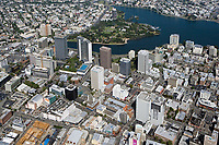 aerial photograph of downtown Oakland, Alameda County California