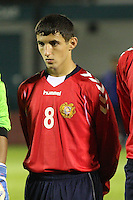 Sargis Shahinyan in the Scotland v Armenia UEFA European Under-19 Championship Qualifying Round match at New Douglas Park, Hamilton on 9.10.12.