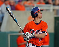 17 February 2006:  Tyler Colvin (21) of the Clemson Tigers during the opening series between James Madison University and Clemson University at Doug Kingsmore Stadium, Clemson, S.C. (Tom Priddy/Four Seam Images)