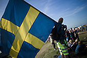 Swedish scouts are waiting to go to the Culture Festival Day Show. Photo: Jonas Elmqvist/Scouterna