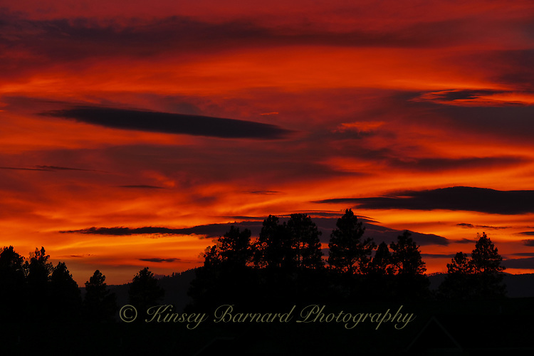 Sunset over the Flathead Valley