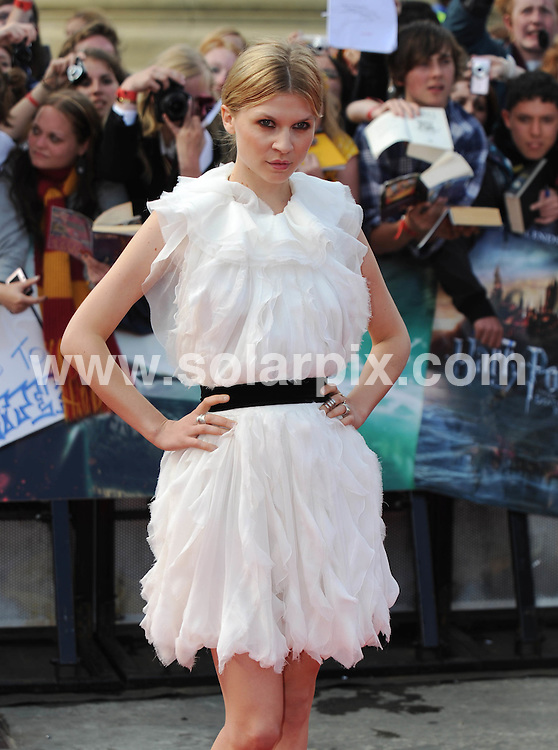 **ALL ROUND PICTURES FROM SOLARPIX.COM**                                             **WORLDWIDE SYNDICATION RIGHTS**                                                                                  Caption:  arrivals at the World Premiere of Harry Potter and The Deathly Hallows - Part 2, Trafalgar Square, London, UK. 7 July 2011                                                                             This pic: Clemence Posey                                                                                         JOB REF: 13679 LNJ       DATE: 07_07_2011                                                           **MUST CREDIT SOLARPIX.COM OR DOUBLE FEE WILL BE CHARGED**                                                                      **MUST AGREE FEE BEFORE ONLINE USAGE**                               **CALL US ON: +34 952 811 768 or LOW RATE FROM UK 0844 617 7637**
