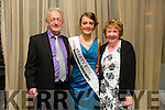 The NEW 2015 Kerry Rose, Julett Culloty from Kilcummin  with mom and dad Padraig and Margaret Culloty at the Kerry Rose Selection on Saturday night in Ballyroe heights hotel
