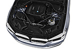 Car stock 2018 BMW 5 Series Touring Sport 5 Door Wagon engine high angle detail view