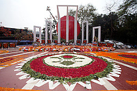 Bangladeshi people pay homage at the Dhaka Central Shaheed Minar, or Martyr's Monuments on International Mother Language Day in Dhaka, Bangladesh, Saterday, Feb. 21, 2015. International Mother Language Day is observed in commemoration of the movement where a number of students died in 1952, defending the recognition of Bangla as a state language of the former East Pakistan, now Bangladesh. The day is now observed across the world to promote linguistic and cultural diversity and multilingualism.