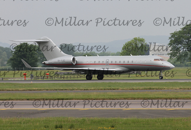 A Vistajet Malta Bombardier Global 6000 Registration 9H-VJC at Glasgow Airport on 4.6.16.