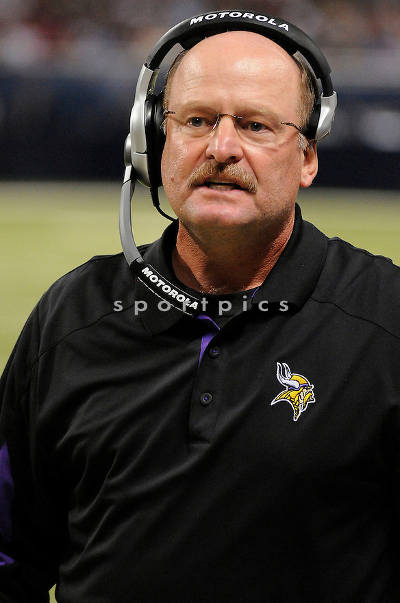 BRAD CHILDRESS, of the Minnesota Vikings ,in action during the Vikings  game against the  St. Louis Rams at Edward Jones Dome in St. Louis Missouri on August14, 2010.  The Vikings won the game 28-17..