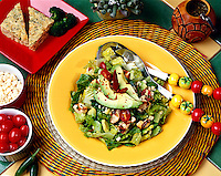 Avocado salad with Romaine lettuce, pear tomatoes, feta cheese  red pepper flakes served with Broccoli Cornbread.