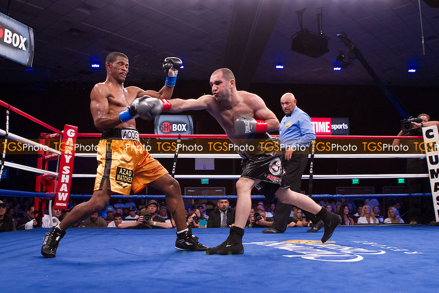 Artyom Hovhannisyan defeats Miguel Acosta in a Lightweight boxing contest promoted by ShoBox, The New Generation, at the Chumash Casino Resort, California - 20/07/12 - Dwight McCann/TGSPHOTO - Self billing applies where appropriate - 0845 094 6026 - contact@tgsphoto.co.uk - NO UNPAID USE.