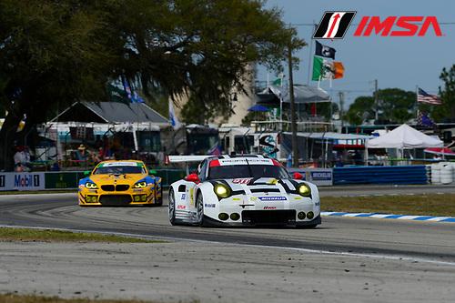 16-18 March, 2016, Sebring, Florida USA<br /> 911, Porsche, 911 RSR, GTLM, Nick Tandy, Patrick Pilet, Kevin Estre<br /> &copy;2016, Richard Dole<br /> LAT Photo USA