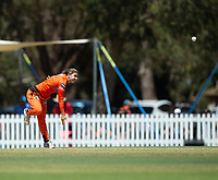 24th November 2019; Lilac Hill Park, Perth, Western Australia, Australia; Womens Big Bash League Cricket, Perth Scorchers versus Sydney Sixers; Nicole Bolton of the Perth Scorchers bowls during Sydneys innings - Editorial Use