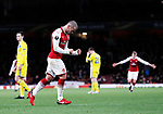 Arsenal's Jack Wilshere celebrates scoring his sides third goal during the Europa League Group H match at The Emirates Stadium, London. Picture date: December 7th 2017. Picture credit should read: David Klein/Sportimage