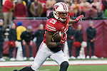Wisconsin Badgers kick returner Derrick Tindal (25) returns a kick during an NCAA College Big Ten Conference football game against the Michigan Wolverines Saturday, November 18, 2017, in Madison, Wis. The Badgers won 24-10. (Photo by David Stluka)