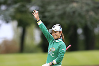 Ai Miyazato (JPN) playing her final tournament of her career   on the 6th green waves to fellow players during Wednesday's Pro-Am Day of The Evian Championship 2017, the final Major of the ladies season, held at Evian Resort Golf Club, Evian-les-Bains, France. 13th September 2017.<br /> Picture: Eoin Clarke | Golffile<br /> <br /> <br /> All photos usage must carry mandatory copyright credit (&copy; Golffile | Eoin Clarke)