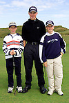 Paul Kelleher, Conor Ryan and Jack Davidson at the Junior Open Day in Laytown and Bettystown Golf Club..Picture: Paul Mohan/Newsfile