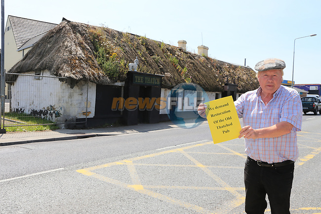Frank Godfrey Outside the original Tatch pub that is now disused and falling down.<br /> Picture:  Fran Caffrey / www.newsfile.ie